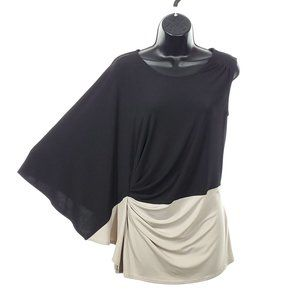 LE CHATEAU Colorblock Blouse Batwing Sleeve Ruched
